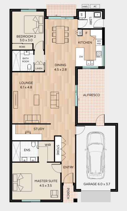 The Briars floor plan - click to expand