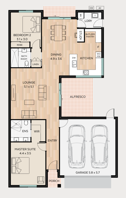 Dalkeith floor plan - click to expand