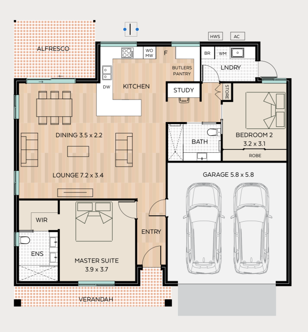 Green Gables floor plan - click to expand